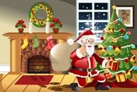 Imagine Moş Crăciun aduce daruri